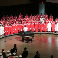 The voices of the Highland Park choir were a special addition to the ceremony.
