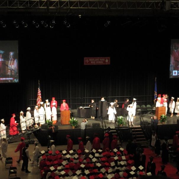 Students receive their diplomas