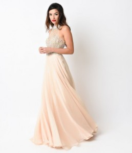 urjKYSncjJ_Nude_Beaded_Halter_Ball_Gown